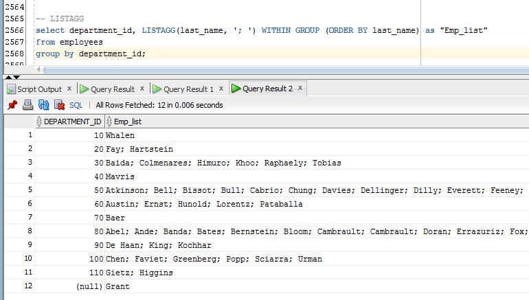 LISTAGG – 1Z0-061 Oracle SQL